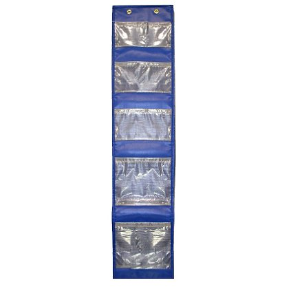 Avon Blue Locker Caddy With See-through Fabric Pockets