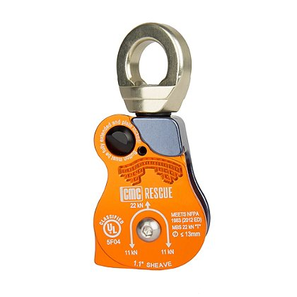 CMC PMP Swivel Pulley, Single, 1.1, NFPA 1983