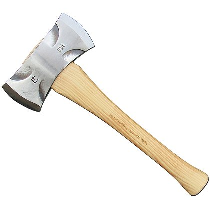Council Tool Velvicut Premium Double Bit Saddle Axe, Hickory Handle