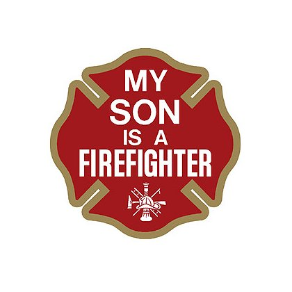 Exclusive My Son is a Firefighter Decal, 4