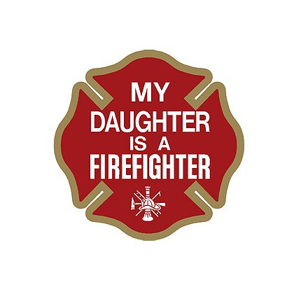 TheFireStore My Daughter is a Firefighter Maltese Cross Decal, 4
