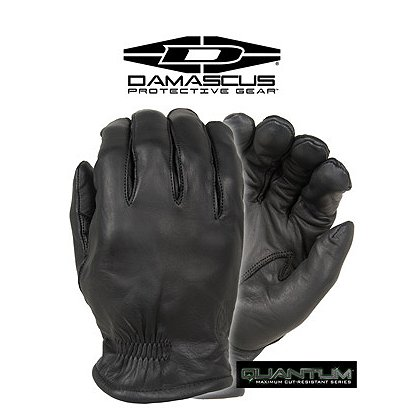 Damascus Quantum, Level 5 Cut Resistant Leather Duty Gloves, Black