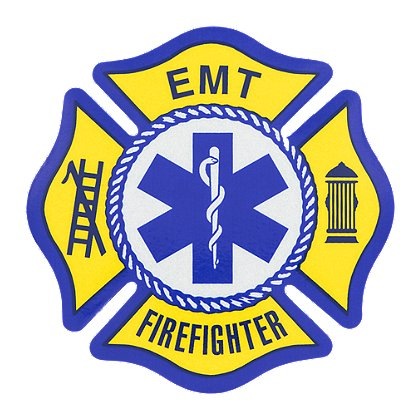 Exclusive EMT/Firefighter Reflective Maltese Cross Decal