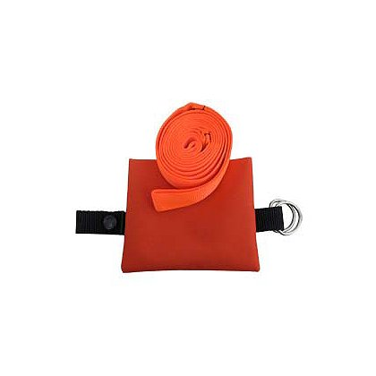 Drag Strap Orange Webbing in Pocket-Sized Pouch