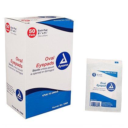 """Dynarex Sterile Oval Eye Pads – 2-5/8"""" x 1-5/8"""""""