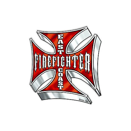 TheFireStore Exclusive East Coast Firefighter Reflective Decal