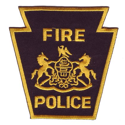 Exclusive Fire Police Patch, Keystone Design
