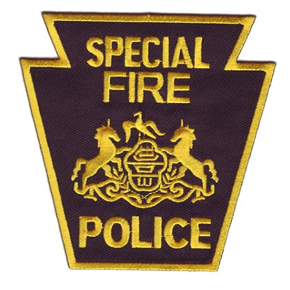 Exclusive Special Fire Police Patch, Keystone Design