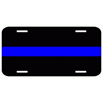 Exclusive Thin Blue Line License Plate