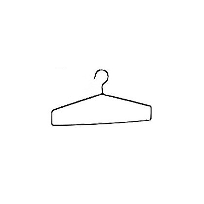 Groves Inc. Heavy Duty Coat Hanger, Flat, Chrome