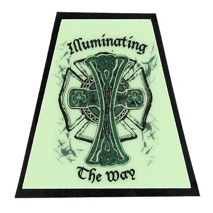 FoxFire Illuminating Irish Cross Tetradedron Decal