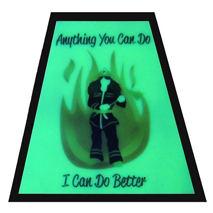 FoxFire Illuminating Female Firefighter Tetradedron Decal