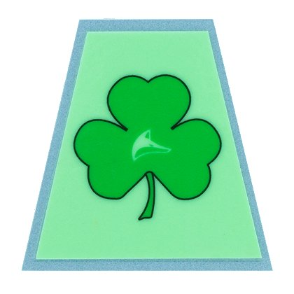 FoxFire Illuminating Shamrock Tetradedron Decal