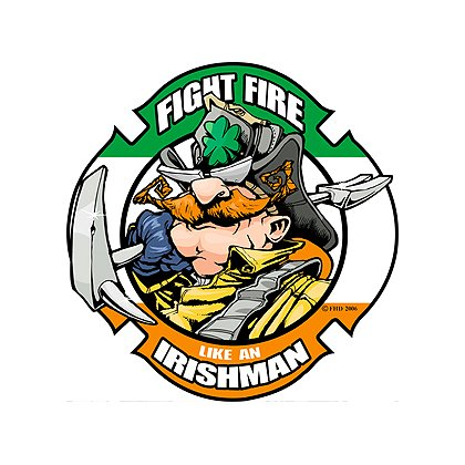 Exclusive Fight Fire Like An Irishman Reflective Decal