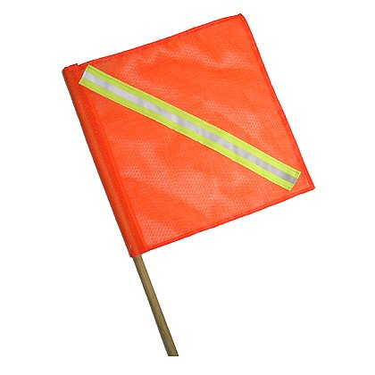 Lakeland Reflective Warning Flag