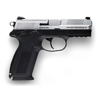 FNH USA Model FNX-40 with Matte Silver Slide and Night Sights, .40 S&W