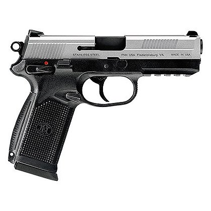 FNH USA Model FNX-45 with Matte Silver Slide and Night Sights, .45 ACP