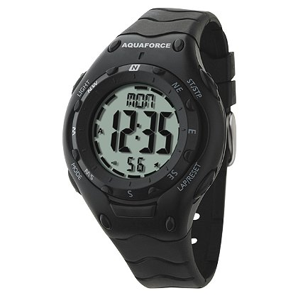 Frontier Aquaforce Digital Compass Watch, Dual Time Zones
