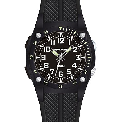 Frontier Aquaforce Analog Flashlight Watch, Black