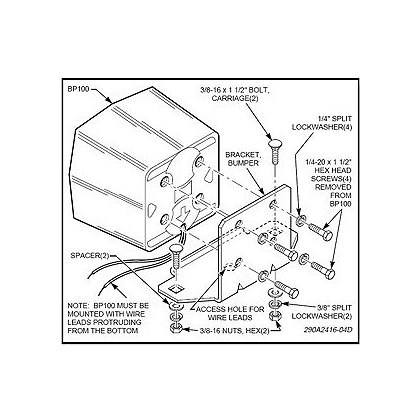 Federal Signal Universal Bumper Mount for BP100 Speaker