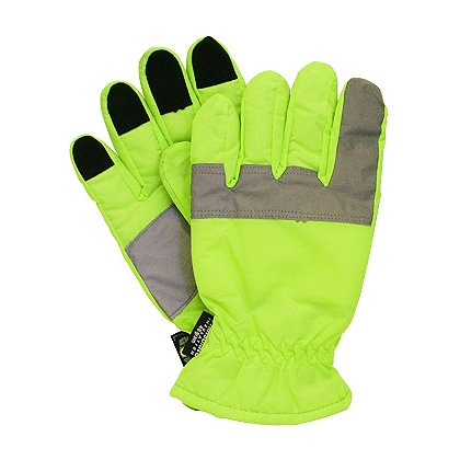 Lakeland Hi-Vis Reflective Safety Gloves, Insulated, Lime/Yellow