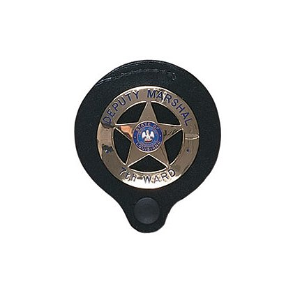 Gould & Goodrich Duty Leather Round Badge Holder