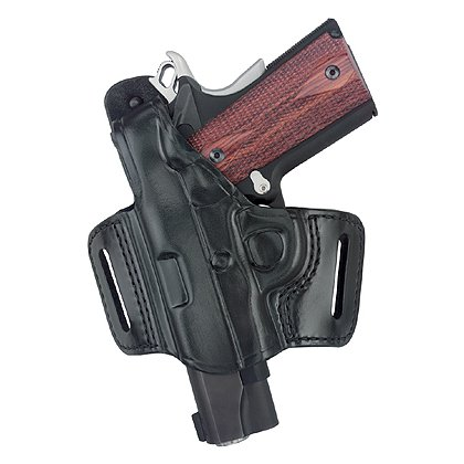Gould & Goodrich GoldLine 809 Compact Belt Slide Holster with Thumb Break, Black
