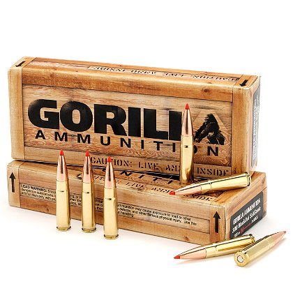 Gorilla Ammunition .300 AAC Blackout, 208gr Hornady A-Max Subsonic, Box of 20