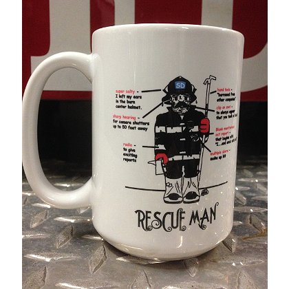 Gettin Salty Rescue Man Ceramic Coffee Mug