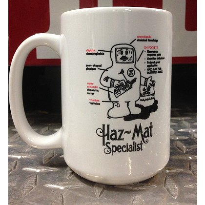 Gettin Salty Haz Mat Ceramic Coffee Mug