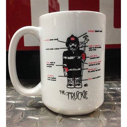 Gettin Salty Truckie Ceramic Coffee Mug