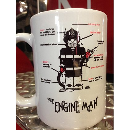 Gettin Salty Engine Man Ceramic Coffee Mug