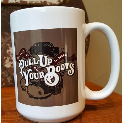 Gettin Salty Pull Up Your Boots Ceramic Coffee Mug