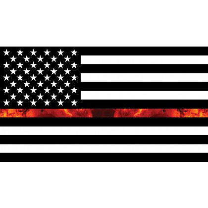 Gettin Salty Thin Red Line Firefighter Flag