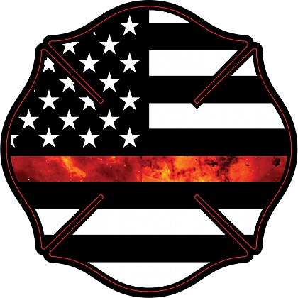 Gettin Salty Thin Red Line Firefighter Maltese Cross Decal