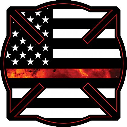 Gettin Salty Thin Red Line Squared Firefighter Maltese Decal