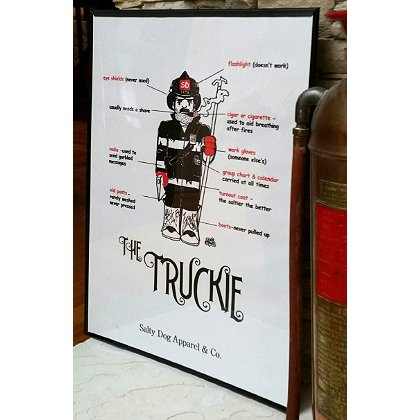 Gettin Salty Truckie Firefighter Print 18