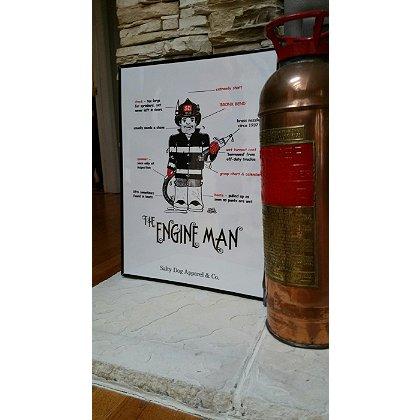 Gettin Salty Engineman Fire Print 18