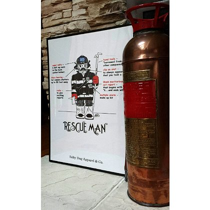 Gettin Salty Rescue Man Fire Print 18