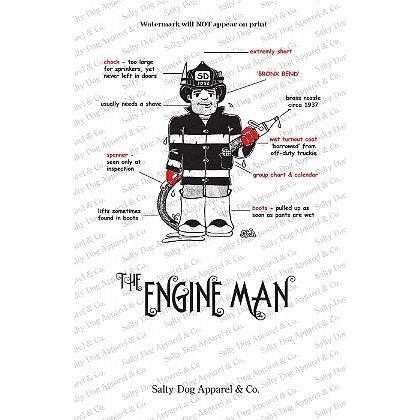Gettin Salty Engineman Fire Print 11.5