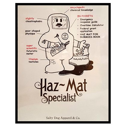 Gettin Salty Hazmat Specialist Firefighter Print