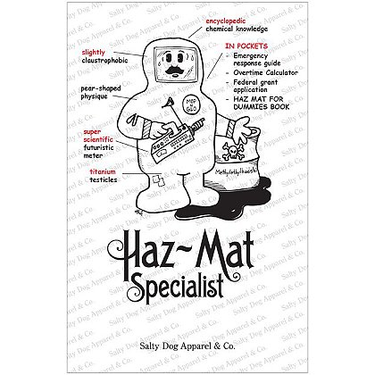 Gettin Salty Hazmat Specialist Firefighter Print 11.5