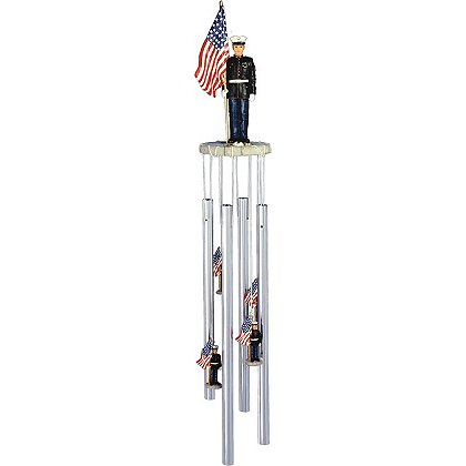 G. S. Chen U.S. Marine with U.S. Flag Wind Chime