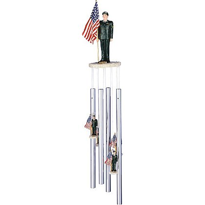 G. S. Chen U.S. Army with U.S. Flag Wind Chime
