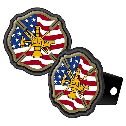 Maltese Cross American Flag w/ Gold Tools Of The Trade, Reflective Cover