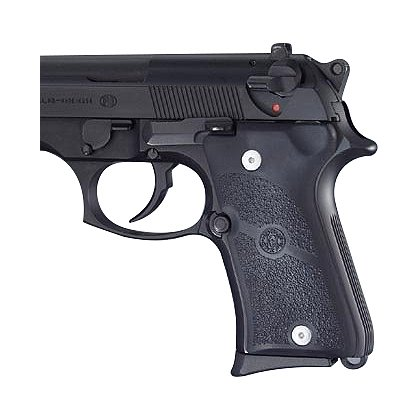 Hogue Beretta 92 Compact Auto Black Rubber grip Panels
