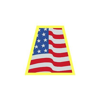 HelmeTets Helmet Tetrahedron, Waving American Flag