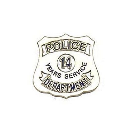 Police Department 14 Years Of Service Pin