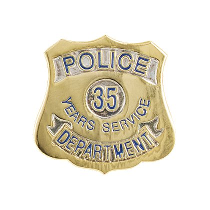 Police Department 35 Years Of Service Pin