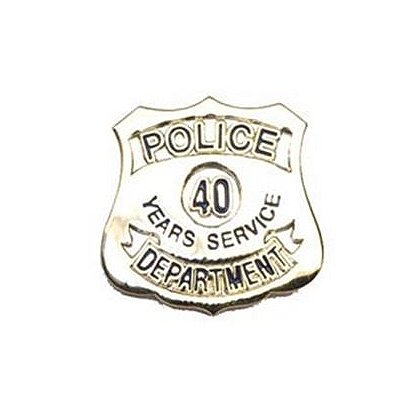Police Department 40 Years Of Service Pin